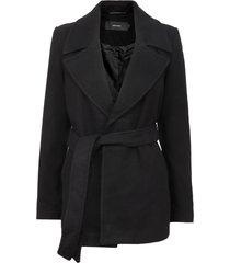 abrigo vero moda negro - calce regular
