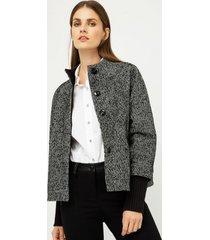kurtka krótka czarno-biała