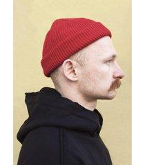 czapka beanie docker short in red
