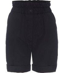 frame women's harem paperbag shorts - khaki - size s