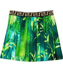 young versace flared and pleated skirt