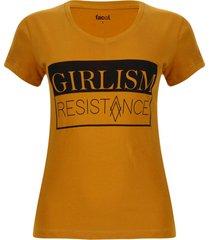 camiseta girlism color amarillo, talla m