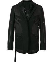 takahiromiyashita the soloist western button blazer - black