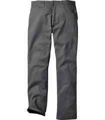 pantaloni termici elasticizzati regular fit straight (grigio) - bpc bonprix collection
