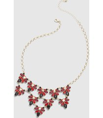 lane bryant women's faceted stone statement necklace - multi-color onesz racing red