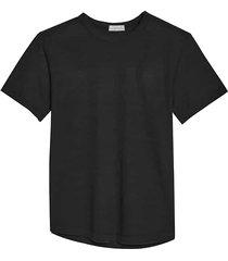 alternative apparel men's modern fit eco jersey shirttail t-shirt black - size: small
