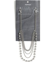 mens silver wallet chain*