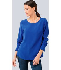 blouse alba moda royal blue