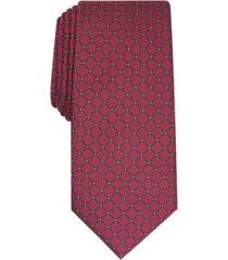 alfani men's malone grid slim tie, created for macy's