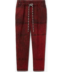 proenza schouler white label crinkled cotton pants red wash s