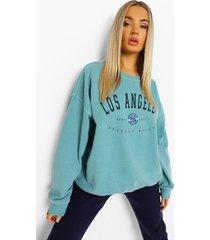 oversized overdye los angeles sweater, sage