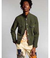 ouigi theodore for sun + stone men's nylon military jacket, created for macy's