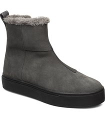 suede / pile boots shoes boots ankle boots ankle boot - flat grå svea