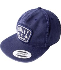 gorra hurley roped in-gris claro
