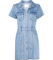 boyish denim the sydney belted waist dress - blue