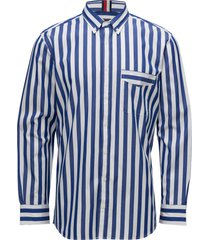 be bold striped shirt overhemd business blauw tommy hilfiger
