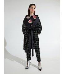 motivi cappa kimono xmas edition donna nero