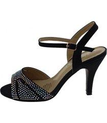 sandalia  negro via franca