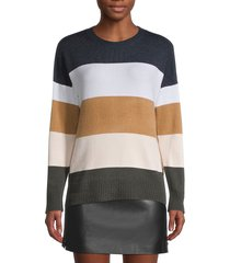 french connection women's colorblock sweater - dove grey - size xs