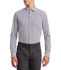 circle-print cotton shirt