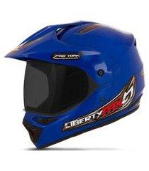 capacete moto trilha pro tork mx pro vision viseira fumê