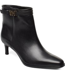 elevated th hardware bootie shoes boots ankle boots ankle boot - heel svart tommy hilfiger