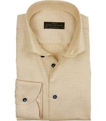 john miller overhemd tailored fit motief beige