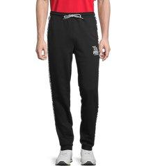 men's puma x mr. doodle cotton sweatpants - black - size xl