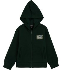 emporio armani green hoodie in recycled cotton
