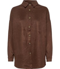 sc-leane långärmad skjorta brun soyaconcept