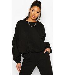 batwing extreme oversized sweatshirt, black