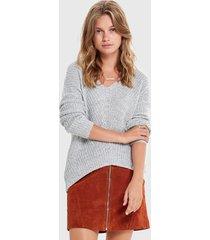 sweater jacqueline de yong gris - calce holgado