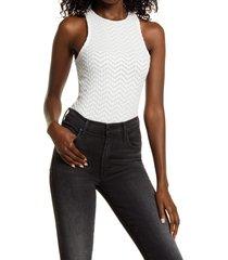 women's allsaints rae lace thong bodysuit, size 2 us - white