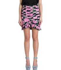 giuseppe di morabito short ruffled skirt with floral motif