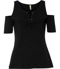maglia a costine con stringatura (nero) - bodyflirt boutique