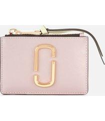 marc jacobs women's top zip multi wallet - dusty lilac multi