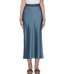 elastic waistband maxi slip skirt