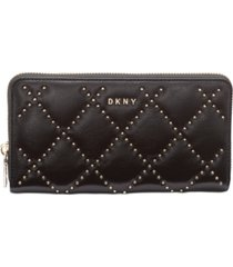 dkny sofia leather zip around wallet, created for macy's