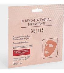 máscara facial hidratante belliz 1 unidade