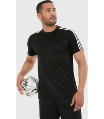 camiseta negro-blanco adidas performance designed 2 move 3 rayas