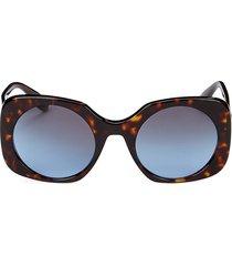 giorgio armani women's 52mm square sunglasses - dark havana