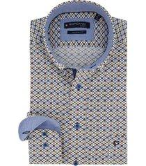 overhemd giordano regular fit blauw dessin