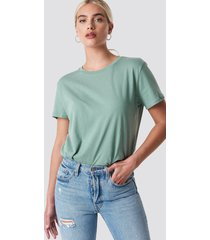 na-kd basic basic oversized tee - green