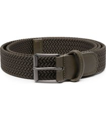 anderson's woven strap belt - green