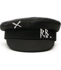 ruslan baginskiy baker boy crystal satin hat