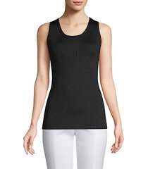 braided rib-knit sleeveless top