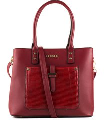 bolso tipo shopping rojo femenino cosmos