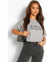 ctrl alt delete graphic t-shirt, grey