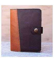 leather passport wallet, 'classic journey in espresso' (thailand)