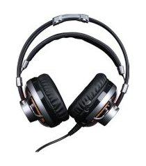 headset gamer 7.1 elg hgss71 surround channel prata led laranja